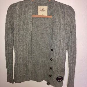 Gray Hollister Button-up Cardigan Size S